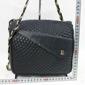 Bally Bags - Bally Quilted Black Leather Chain Flap 870749